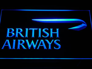 British Airways LED Neon Sign - Blue - SafeSpecial