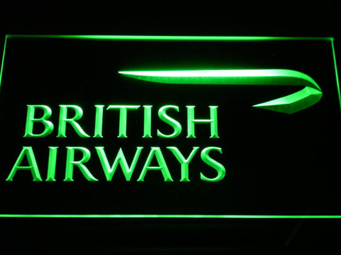 British Airways LED Neon Sign - Green - SafeSpecial
