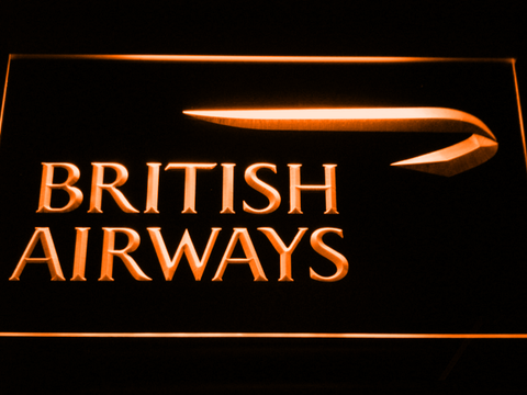British Airways LED Neon Sign - Orange - SafeSpecial