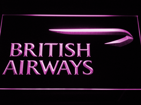 Image of British Airways LED Neon Sign - Purple - SafeSpecial