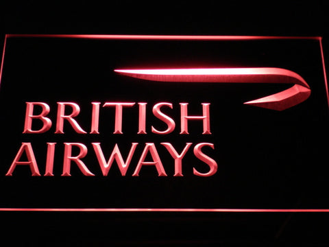 Image of British Airways LED Neon Sign - Red - SafeSpecial