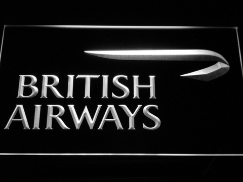 Image of British Airways LED Neon Sign - White - SafeSpecial