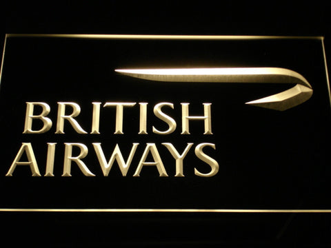 Image of British Airways LED Neon Sign - Yellow - SafeSpecial