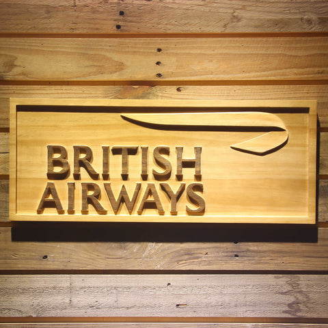 British Airways Wooden Sign - Small - SafeSpecial