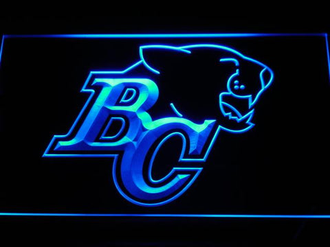 British Columbia Lions BC Logo LED Neon Sign - Legacy Edition - Blue - SafeSpecial