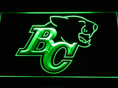 British Columbia Lions BC Logo LED Neon Sign - Legacy Edition - Green - SafeSpecial