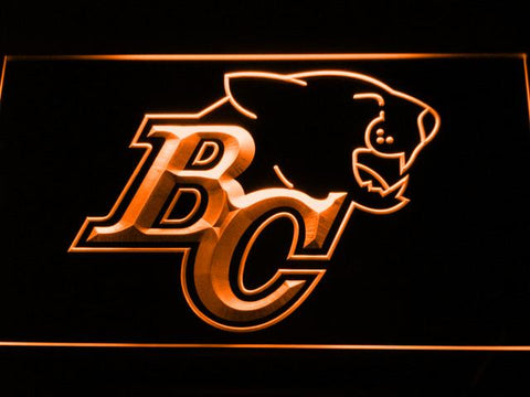British Columbia Lions BC Logo LED Neon Sign - Legacy Edition - Orange - SafeSpecial