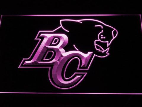 British Columbia Lions BC Logo LED Neon Sign - Legacy Edition - Purple - SafeSpecial