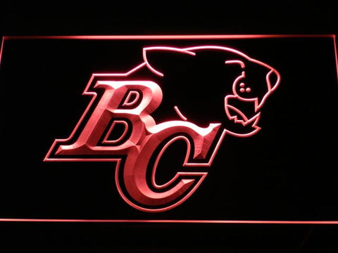 British Columbia Lions BC Logo LED Neon Sign - Legacy Edition - Red - SafeSpecial