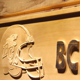 British Columbia Lions Helmet Wooden Sign - Legacy Edition - - SafeSpecial