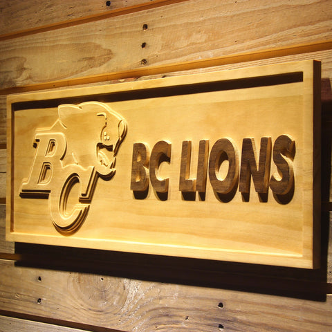 British Columbia Lions Wooden Sign - Legacy Edition - - SafeSpecial