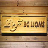 British Columbia Lions Wooden Sign - Legacy Edition - Small - SafeSpecial