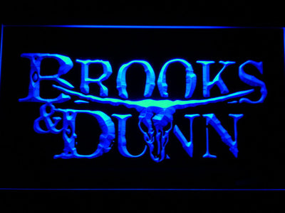 Brooks & Dunn LED Neon Sign - Blue - SafeSpecial