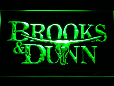 Brooks & Dunn LED Neon Sign - Green - SafeSpecial