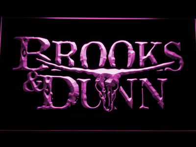 Brooks & Dunn LED Neon Sign - Purple - SafeSpecial