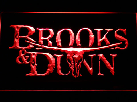 Brooks & Dunn LED Neon Sign - Red - SafeSpecial