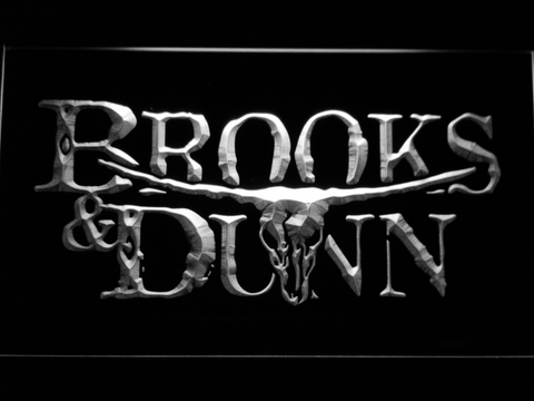 Brooks & Dunn LED Neon Sign - White - SafeSpecial