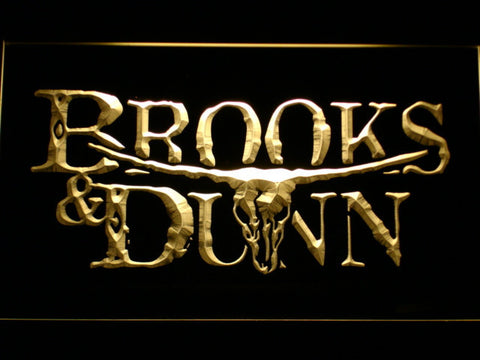 Brooks & Dunn LED Neon Sign - Yellow - SafeSpecial