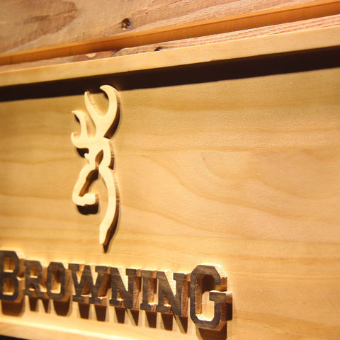 Image of Browning Wooden Sign - - SafeSpecial