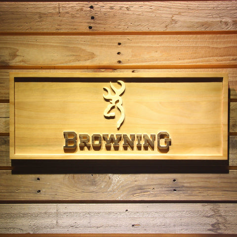 Browning Wooden Sign - Small - SafeSpecial
