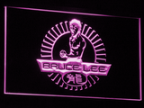 Bruce Lee LED Neon Sign - Purple - SafeSpecial