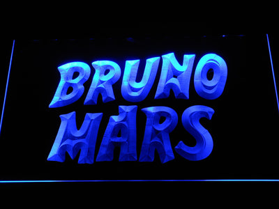 Bruno Mars LED Neon Sign - Blue - SafeSpecial