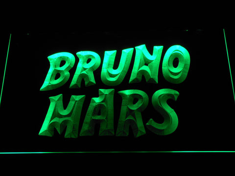 Image of Bruno Mars LED Neon Sign - Green - SafeSpecial