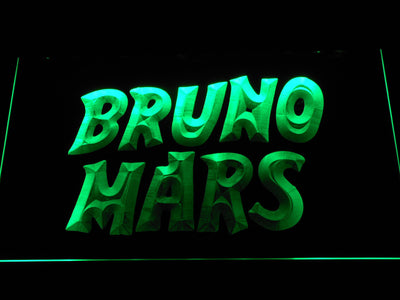 Bruno Mars LED Neon Sign - Green - SafeSpecial