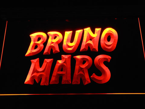 Image of Bruno Mars LED Neon Sign - Orange - SafeSpecial