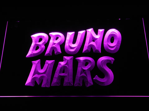 Image of Bruno Mars LED Neon Sign - Purple - SafeSpecial