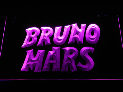 Bruno Mars LED Neon Sign - Purple - SafeSpecial