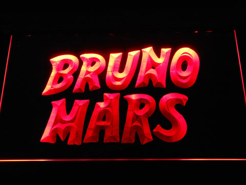 Image of Bruno Mars LED Neon Sign - Red - SafeSpecial