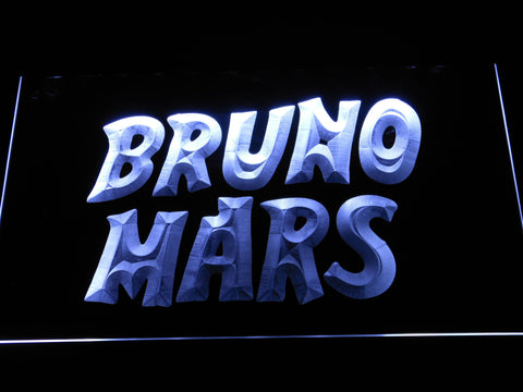Image of Bruno Mars LED Neon Sign - White - SafeSpecial