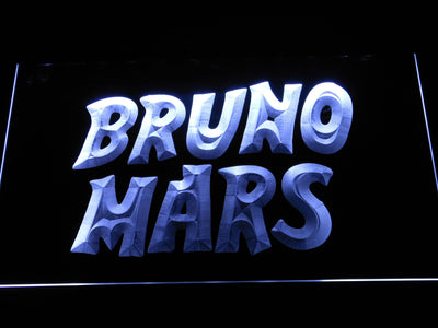 Bruno Mars LED Neon Sign - White - SafeSpecial