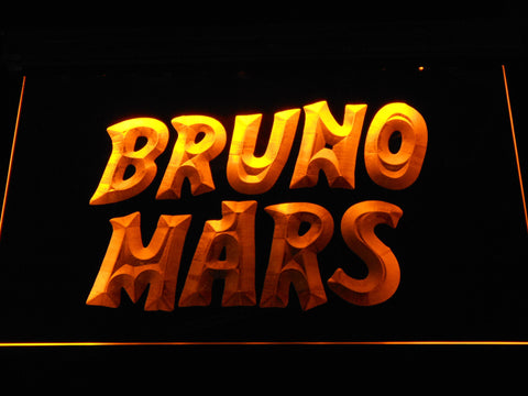 Image of Bruno Mars LED Neon Sign - Yellow - SafeSpecial