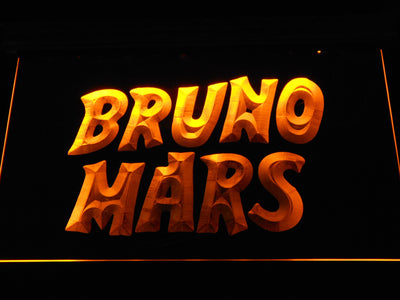 Bruno Mars LED Neon Sign - Yellow - SafeSpecial