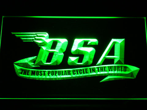 BSA LED Neon Sign - Green - SafeSpecial