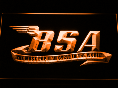 BSA LED Neon Sign - Orange - SafeSpecial