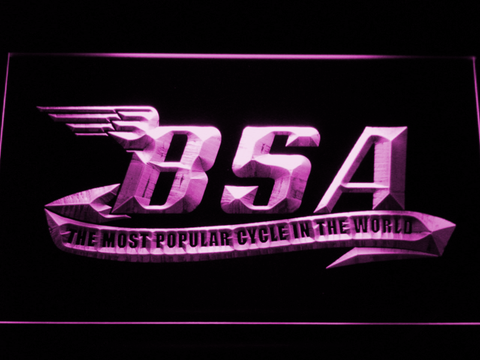BSA LED Neon Sign - Purple - SafeSpecial