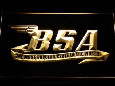 BSA LED Neon Sign - Yellow - SafeSpecial
