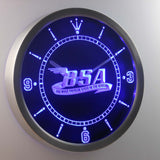 BSA LED Neon Wall Clock - Blue - SafeSpecial