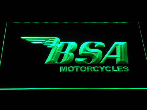 BSA Motorcycles LED Neon Sign - Green - SafeSpecial