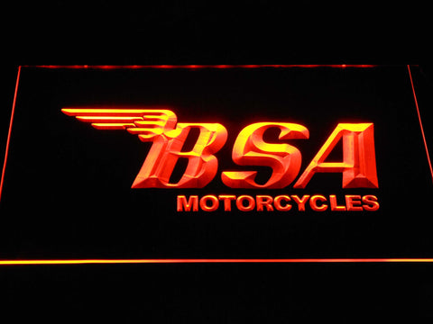 BSA Motorcycles LED Neon Sign - Orange - SafeSpecial