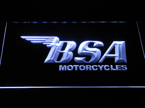 BSA Motorcycles LED Neon Sign - White - SafeSpecial
