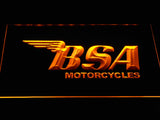 BSA Motorcycles LED Neon Sign - Yellow - SafeSpecial