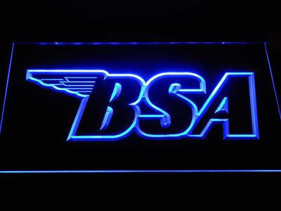 BSA Outline LED Neon Sign - Blue - SafeSpecial