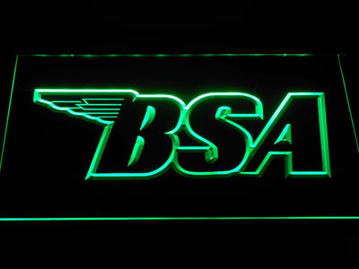 BSA Outline LED Neon Sign - Green - SafeSpecial