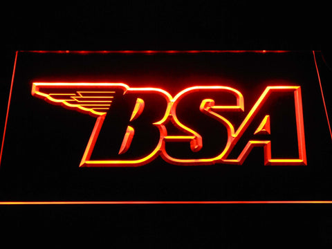 BSA Outline LED Neon Sign - Orange - SafeSpecial