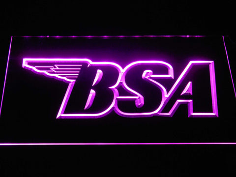 BSA Outline LED Neon Sign - Purple - SafeSpecial