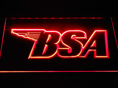 BSA Outline LED Neon Sign - Red - SafeSpecial